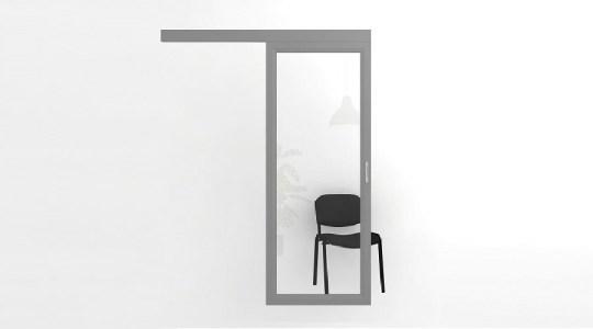Раздвижные откатные офисные двери