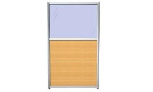 Модуль офисной перегородки с ЛДСП и стеклом