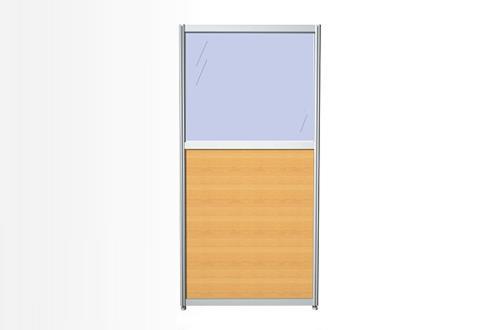 Перегородка комбинированная 80х150х3, ЛДСП и стекло