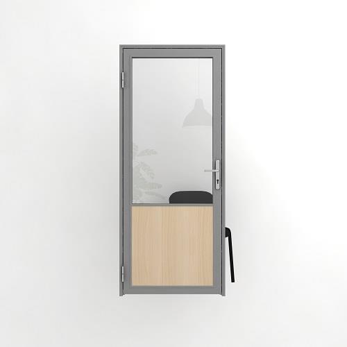 Дверь офисная, комбинированная
