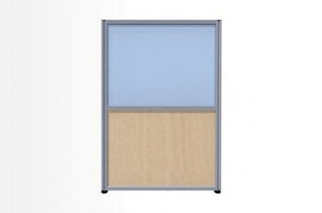Комбинированный модуль: Рогожка и стекло, 800х2100 (Система 58)