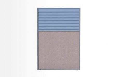 Комбинированный модуль: Рогожка и стекло с жалюзи, 1200х2100 (Система 58)