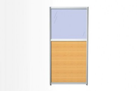 Перегородка комбинированная 40х150х3, ЛДСП и стекло