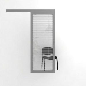 Откатная дверь с жалюзи