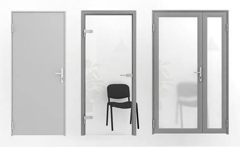 Двери межкомнатные офисные белые