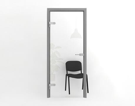 Стеклянные входные двери для офиса
