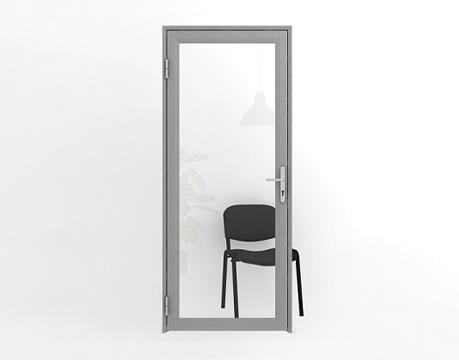 Двери офисные межкомнатные алюминиевые