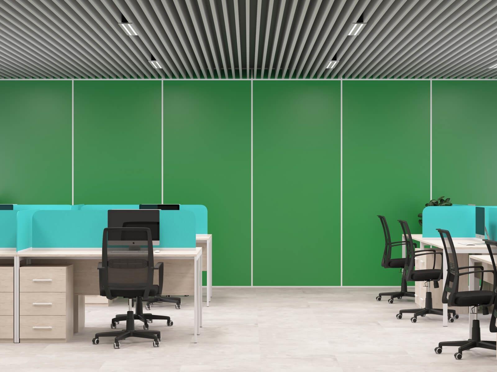 Стеновая панель зеленая