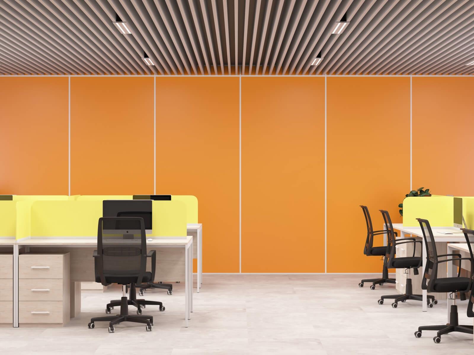 Оранжевая стеновая панель