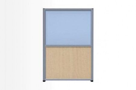 Комбинированный модуль: Рогожка и стекло, 800х1300 (Система 58)