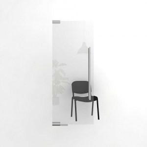 Цельностеклянная офисная дверь