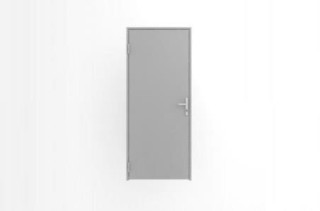 Глухая офисная дверь в алюминиевой раме