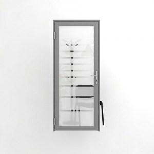 Офисная дверь в матовую полоску