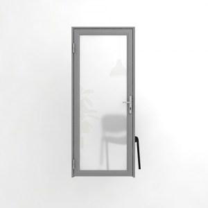 Дверь офисная, одинарный матовый витраж
