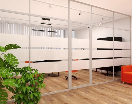 Алюминиевые стеклянные перегородки для офисов